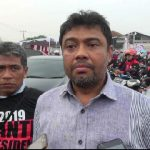 Presiden KSPI Said Iqbal saat diwawancara di Kabupaten Bekasi. Foto : Enriko/Pojokjabar
