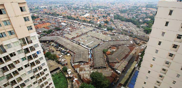 Tampak terlihat Pasar Tradisional Kemiri Muka yang berada di kawasan Kecamatan Beji. Ahmad Fachry/Radar Depok