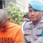 TERTANGKAP: Seorang pelaku spesialis barang rumahan berhadil ditangkap perumahan.