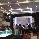 MERIAH: Suasana Wedding Expo diramaikan beberapa vendor pernikahan, Sabtu (21/4/2018)./Foto: Adi