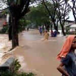 Banjir bandang melanda wilayah Kecamatan Cidaun, Kabupaten Cianjur, Rabu (25/4/2018).