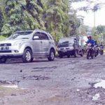 Kondisi Jalan Jalur Lingkar Selatan, Kota Sukabumi rusak parah