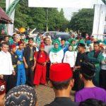 Jawara asal Betawi saat menghadang Ade Yasin./Foto: Istimewa