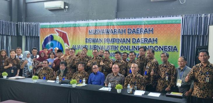 Musda I DPD AJO Provinsi Riau di Baliview Simpang Tiga, Pekan Baru, Provinsi Riau, Minggu (15/4/2018)./Foto: via jabarpublisher.com