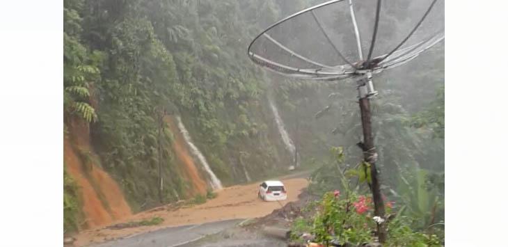 Longsor di Naringgul Cianjur Selatan./Foto: Istimewa