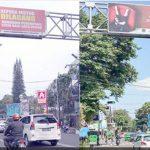 Spanduk Dishub Kota Sukabumi yang dinlai berbau politik