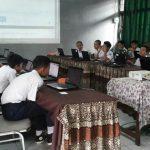 SEMPAT NGARET: SMPN 2 Cianjur tetap melaksanakan UNBK dan dapat berlangsung meski sempat tersendat 15 menit karena mati server.