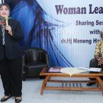 Bupati Bekasi Neneng Hasanah Yasin saat memberikan kuliah umum di President University. Foto : Humas Pemkab Bekasi for Pojoksatu