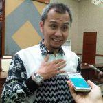 Satria Hamid yang juga sebagai Coorporate Communication General Manager PT Trans Ritel memberikan keterangan terkait soft launcing yang akan  berlangsung pada tanggal 25 Mei 2018, foto/adi