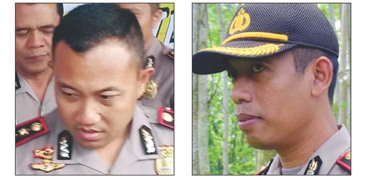 DATANG DAN PERGI: AKBP Slamet Waloya (kanan) AKBP Hendy F Kurniawan (kiri).