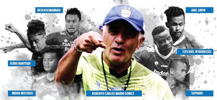 Mario Gomez dan Enam pemain Persib yang absen melawan Bhayangkara FC, Kamis (31/05/18).