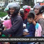 PELANGGARAN. Pengendara motor di Bogor  masih banyak yang tak mematuhi peraturan.
