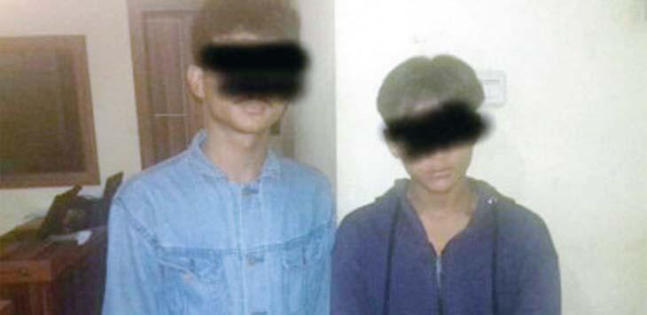 INILAH PELAKUNYA: Dua remaja diamankan di Polresta Depok bernama Az dan Adit, mereka diamankan karena melakukan tindakan kekerasan atau pengeroyokan kepada Iwaludin. Ist