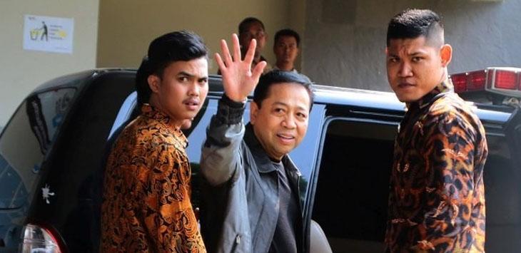 Setya Novanto saat akan dieksekusi ke LP Sukamiskin, Jumat (4/5)/Foto: via Jawapos