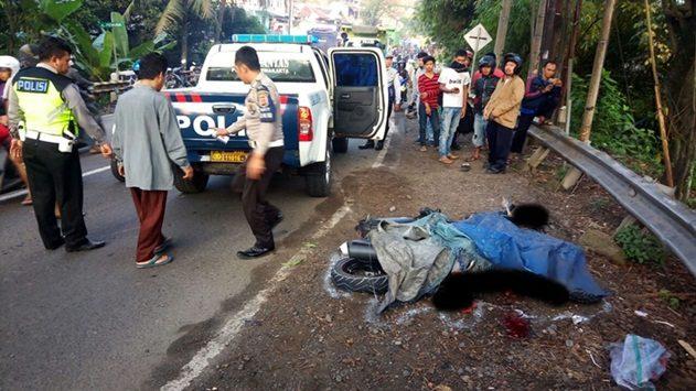 Kecelakaan di Jalan Raya Bandung- Purwakarta, Senin (21/5/2018)./Foto: Ade