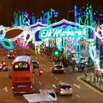 INDAH: Suasana malam saat Ramadan di Singapura, di lokasi ini ada bazar selama bulan Ramadhan.