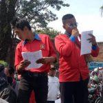 ORASI: DPK SPRI berunjukrasa di halaman Disdukcapil Kabupaten Cianjur beberapa waktu lalu