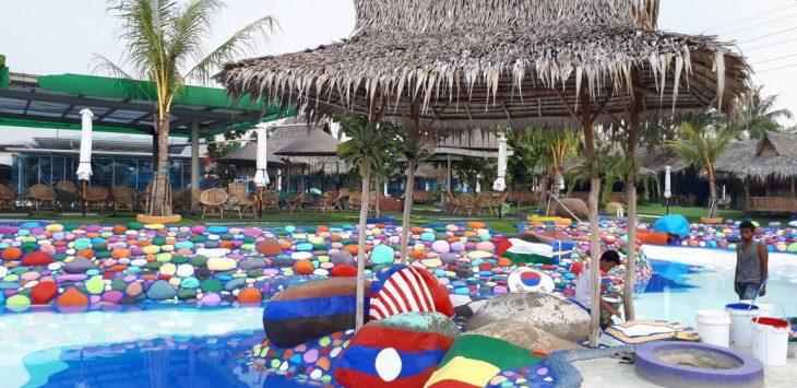 Wisata air Cikao Park rasa Piala Dunia 2018./Foto: via Rmol