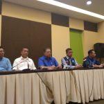 Susilo Bambang Yudhoyono memberikan keterangan pers mengenai Pilkada serentak dan Jawa Barat di Hotel Santika Bogor, Sabtu (23/06/2018), foto/adi