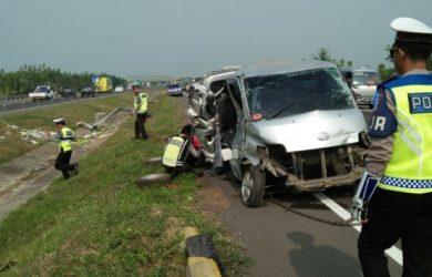 Kondisi kecelakaan di Tol Cipali/Yurizkha Aditya.