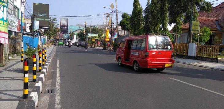 Kondisi lalulintas di ruas jalan Kota Sukabumi./Foto: via rmol