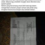 Form C6 yang dikeluhkan warga di Grup FB Sukabumi Facebook