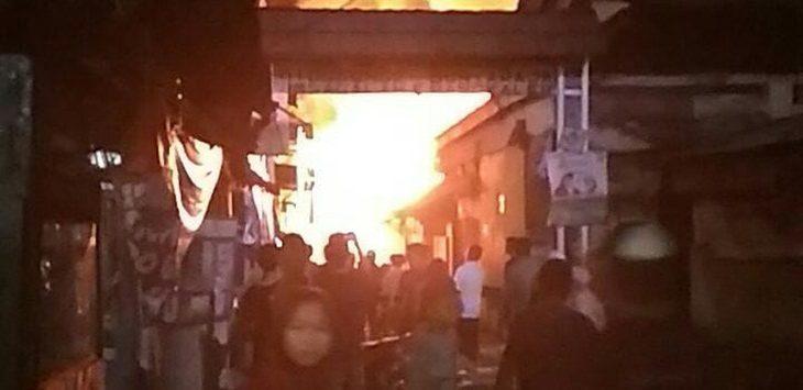 Pasar Tradisional Sagalaherang kebakaran sekitar pukul 20.00 WIB, Rabu (13/6/2018)./Foto: Istimewa