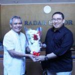 Fadli Zon di Kantor Redaksi Radar Bogor, Jumat (1/6/2018)/Twitter