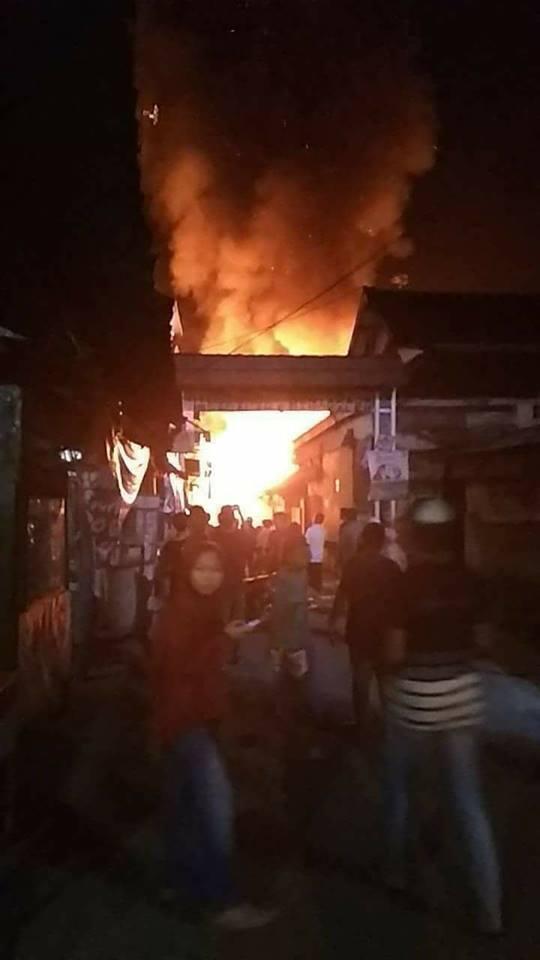 Pasar Tradisional Sagalaherang kebakaran