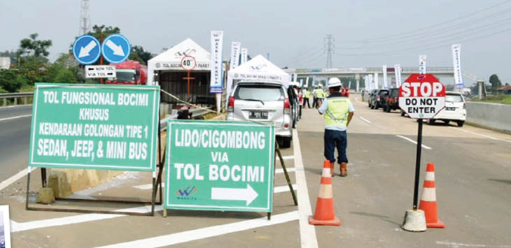 Tol Bogor-Ciawi-Sukabumi mulai dilalui kendaraan usai dibuka untuk jalur mudik tahun ini.