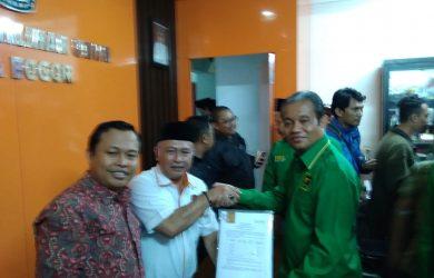 PPP Kota Bogor saat mendaftar untuk pileg 2019 di KPUD Kota Bogor