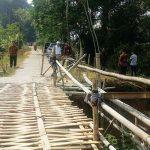 SEGERA DIPERBAIKI: Jembatan Nengkor bakal segera diperbaiki dengan dana CSR dari salah satu bank milik pemerintah. TOHA HAMDANI/RADAR SUMEDANG