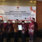 KPUD Kota Bogor Secara Resmi Tetapkan Bima-Dedi Walikota dan Wakil Walikota Terpilih, Kamis (26/07/2018). Istimewa