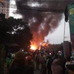 Kebakaran di Samping Hotel Bogor Valey
