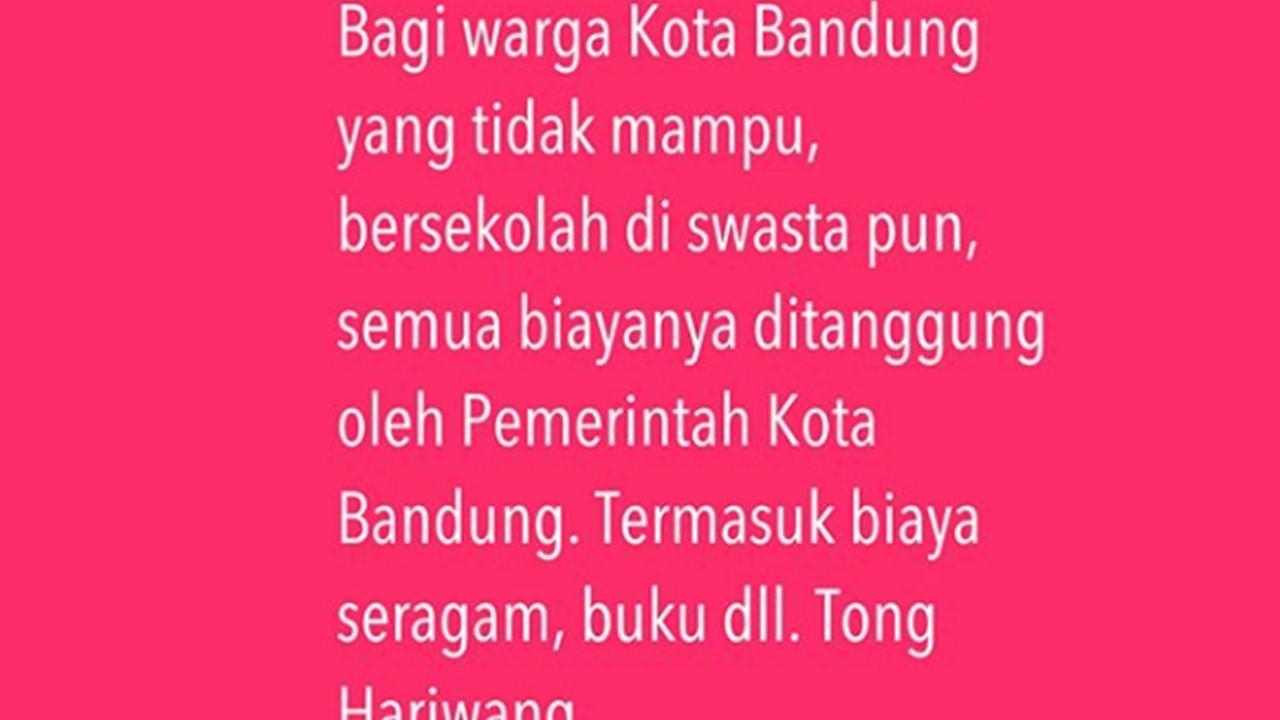 Status Instagram Ridwan Kamil