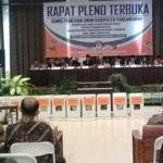 Rapat Pleno Terbuka KPU Kabupaten Pangandaran