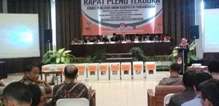 Rapat Pleno Terbuka KPU Kabupaten Pangandaran./Foto: Radartasikmalaya