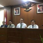 Rektor IPB bersama staffnya menggelar konferensi pers, Sabtu (21/07/2018). Istimewa