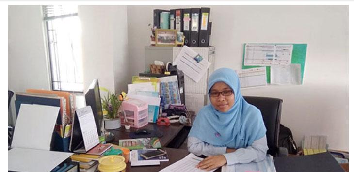 Kepala Seksi (Kasi) Nerasa dan Analisis Statistik BPS, Anita pada saat mejelaskan angka kemiskinan