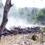 Tempat Pembuangan Limbah PT GSI Sukabumi Terbakar