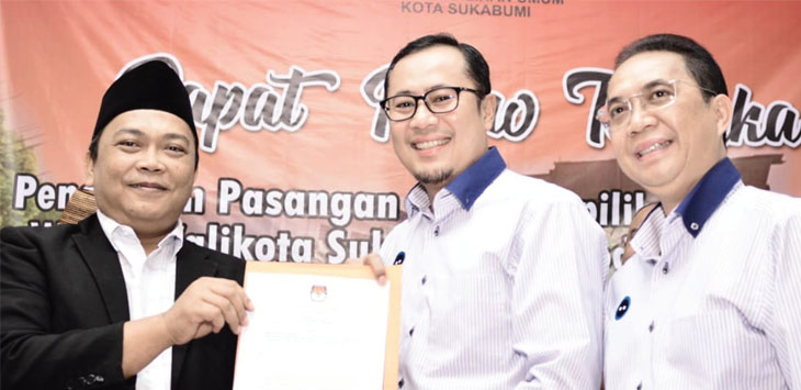 KPU Kota Sukabumi secara resmi menetapkan pasangan Achmad Fahmi dan Andri Hamami (Faham) sebagai Walikota dan Wakil Walikota Sukabumi terpilih periode 2018-2023, Kamis (26/7).