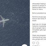 Pesawat tertangkap di google maps