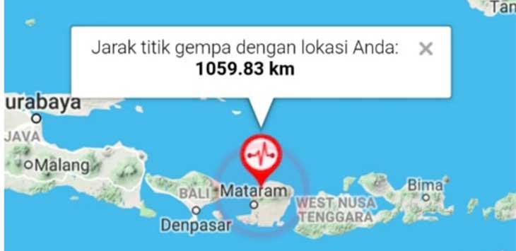 Gempa di Mataram
