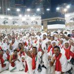 DI BAITULLAH: Jamaah calon haji asal Karawang sudah berada di Makkah. ASEP KURNIA / RADAR KARAWANG