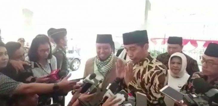 Jokowi saat bersama Ketua DPP PPP Romahurmuziy, Bogor, Rabu (8/8/2018)./Foto: Unang