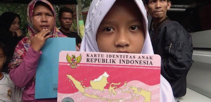 (Ilustrasi) Kartu identitas anak.