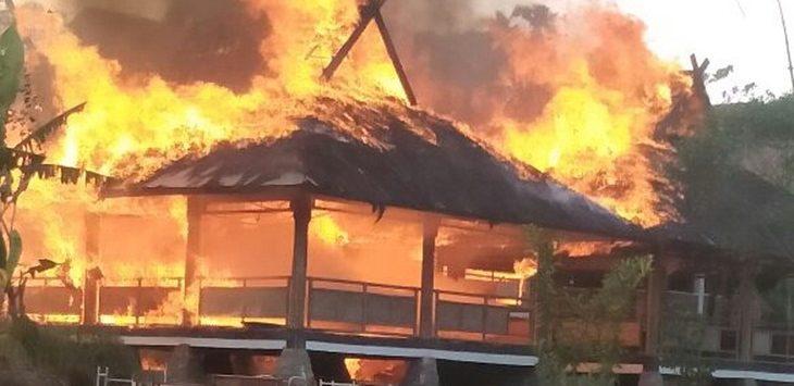 Kebakaran SMP 10 Kaburipan, Purwakarta, Rabu (8/8/2018)./Foto: Ade