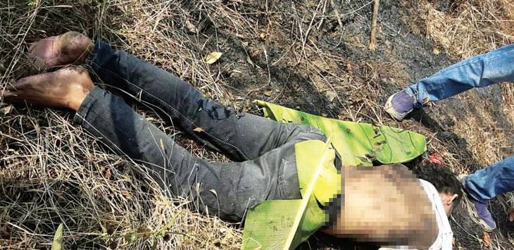 ILUSTRASI: Jenasah Alex saat ditemukan warga di Desa Gendereh Kec Buahdua beberapa waktu lalu. Pembunuhnya sudah tertangkap. ist