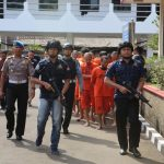 Gelar perkara Narkoba  dan Miras Oplosan di Halaman Polres Bogor, Jalan Tegar Beriman, Cibinong, Jumat (10/08/2018). FOTO: Unang/Pojokjabar