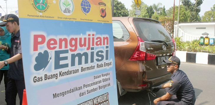 Uji emisi DLH Kota Sukabumi